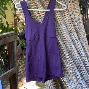 purple lulu lemon workout top